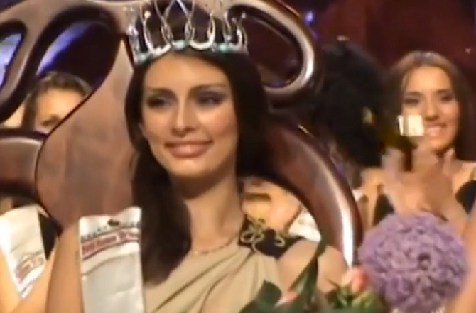 Jelena Marković na izboru za Mis Srbije 2009. u Beogradu
