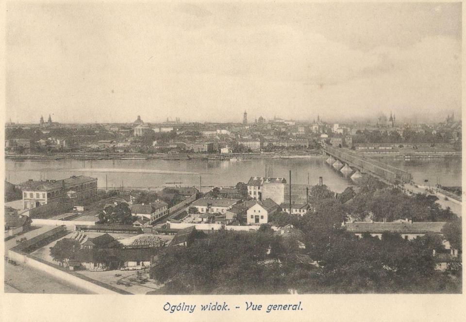Panorama lewobrzeżnej Warszawy z Pragi