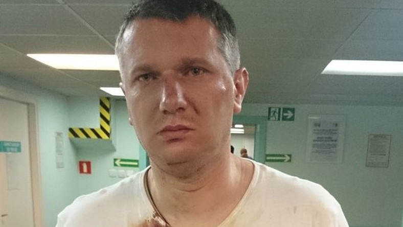 Przemysław Wipler w szpitalu, fot. Radio ZET