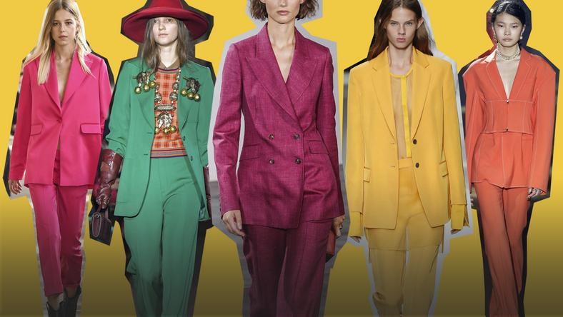 fe89740e06 Trendy wiosna-lato 2019  soczyste garnitury - Moda