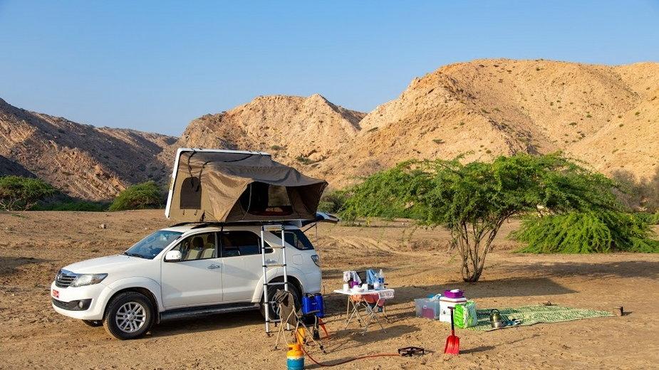 Z namiotem w Omanie