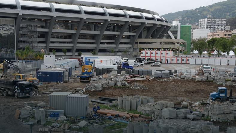 Maracana - widok przed stadionem