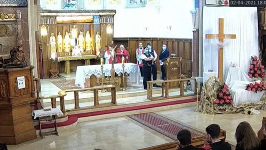 Policja w polskim kościele w Londynie