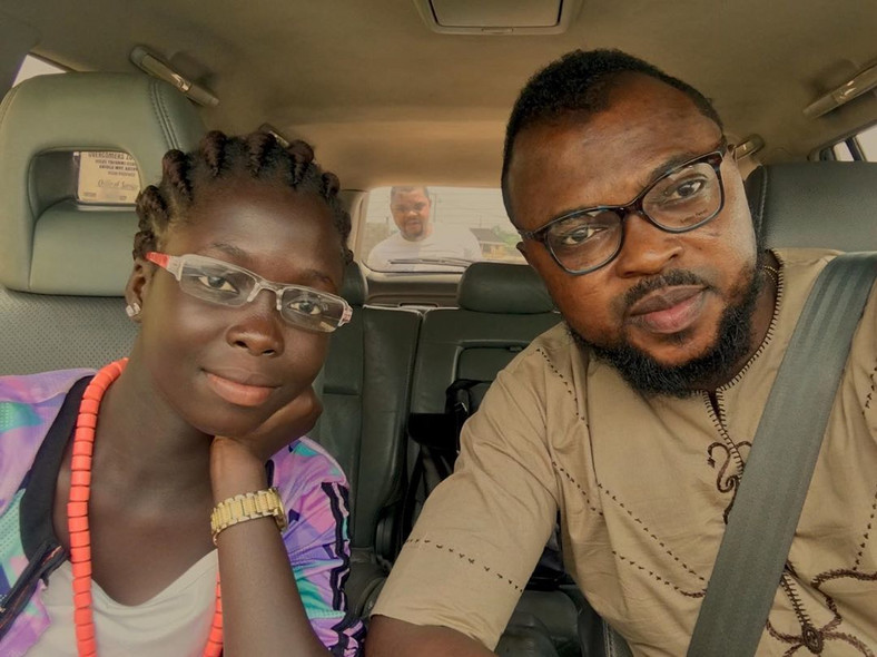 Toyin Abraham's third husband has a teenage daughter named Temitope. [Instagram/Kolawole Ajeyemi]