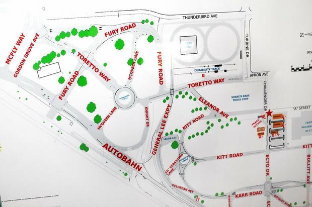 Ulice na testowym kampusie Google, fot. The Verge