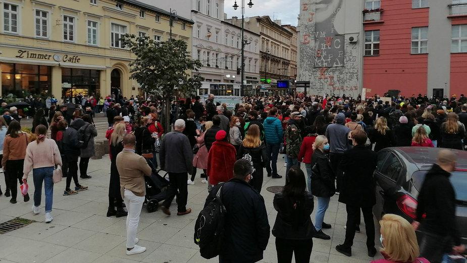 Protest w obronie praw kobiet w Bydgoszczy