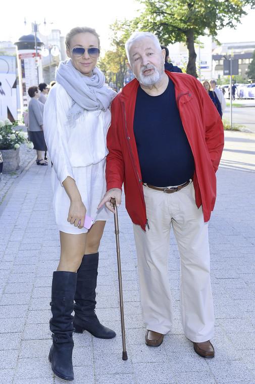 Sonia Bohocevic con su suegro Janusz Majowski