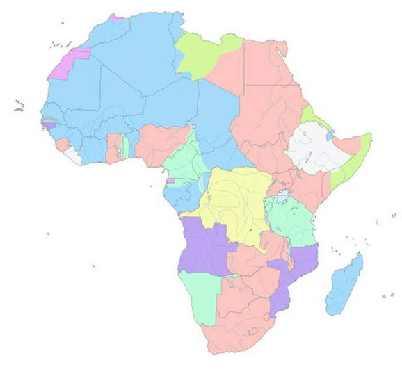Mapa Afrike (foto: Wikipedia)