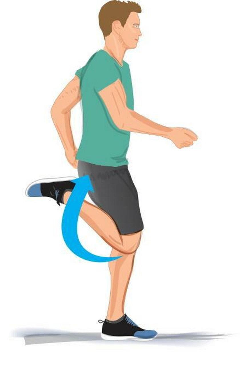 Rozgrzewanie ud i kolan