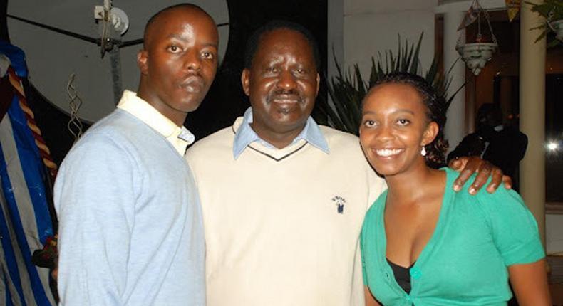 Raila Odinga, Son Raila Junior and Yvonne