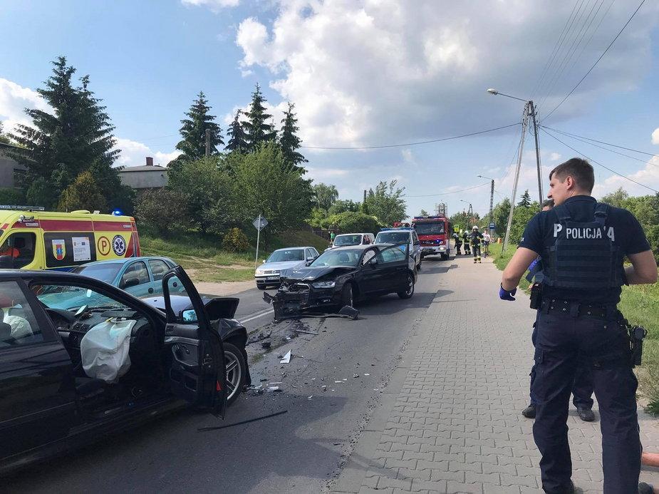 Wypadek na Krakowskim Przedmieściu w Sieradzu