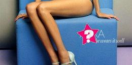 Anorektyczne nogi gwiazdy telewizji
