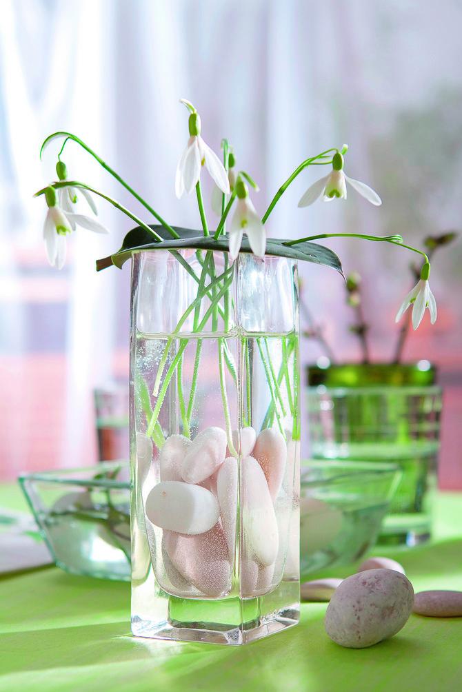 Tanano staklo za nežni cvet