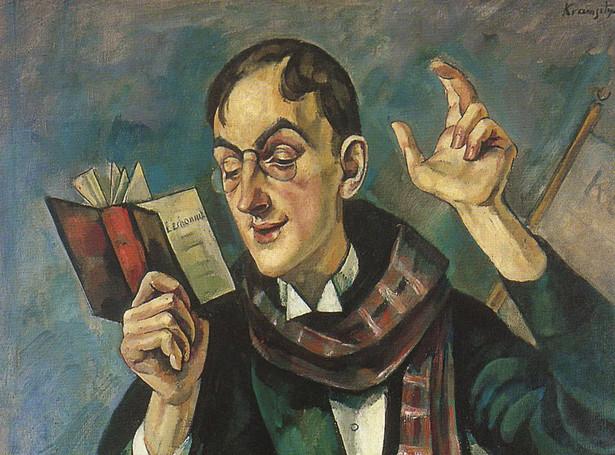 """Roman Kramsztyk """"Portret Jana Lechonia"""" (1919)"""