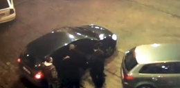 Pijany rzucał koszem w auto!