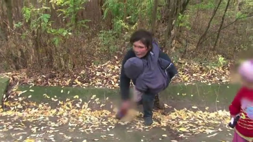 Pijana matka wpadła do rowu z dzieckiem!