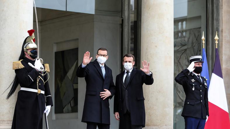 Mateusz Morawiecki, Emmanuel Macron