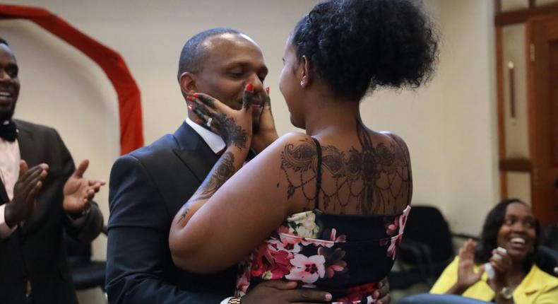 Ben Kitili's heart-warming message to his wife as they celebrate first wedding anniversary in style