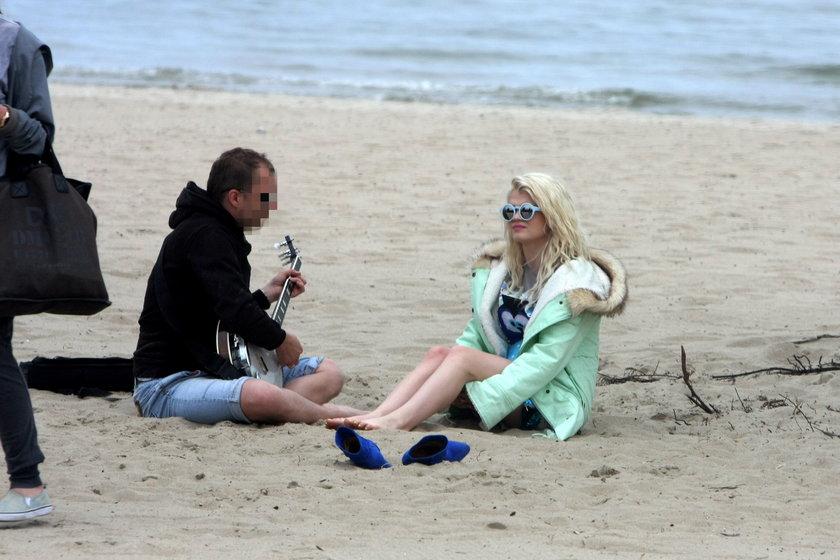 Margaret na plaży w Sopocie