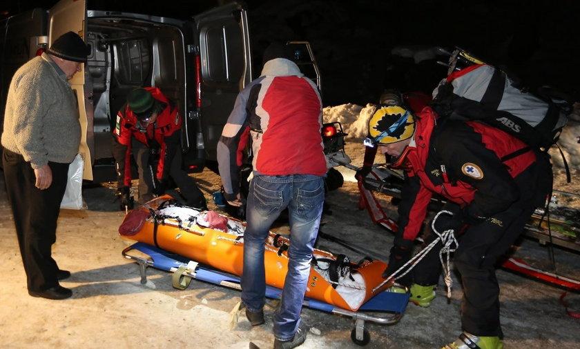 Akcja ratownicza po zejściu lawiny