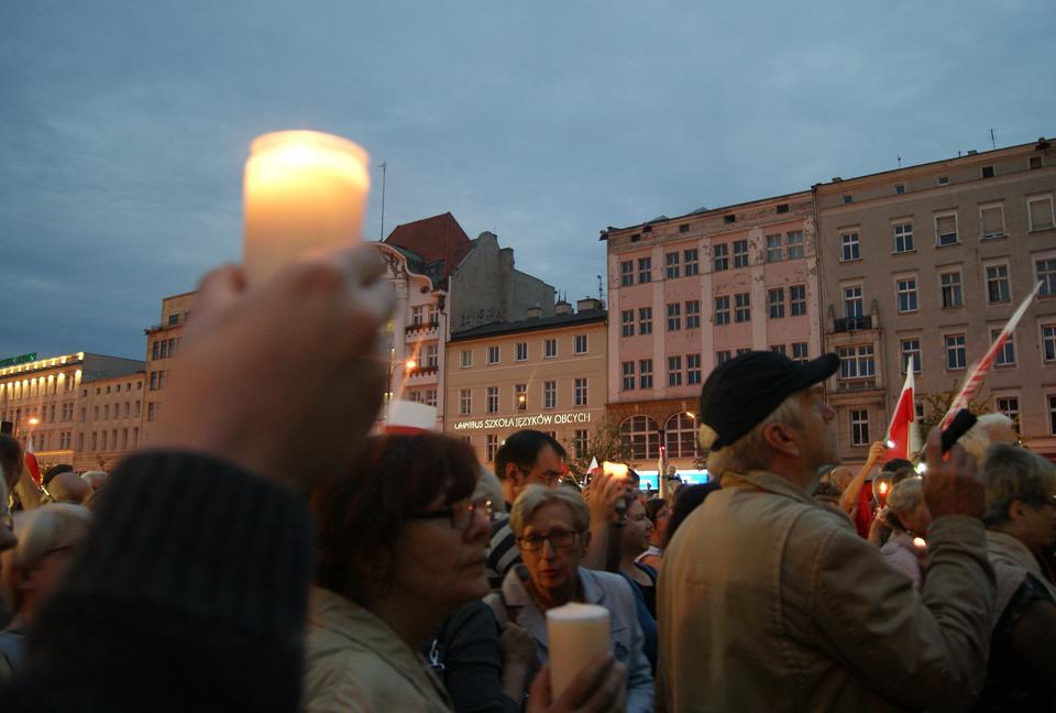 """""""Łańcuch Światła"""" w Poznaniu"""