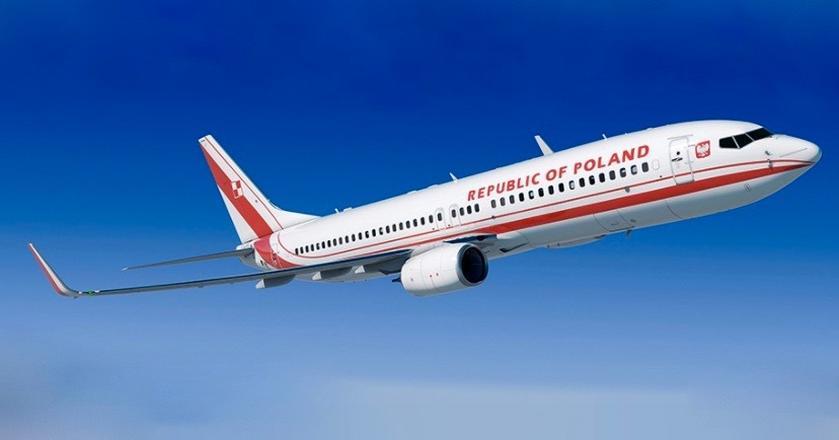Wizualizacja luksusowej wersji Boeinga 737-800 BBJ2 w biało-czerwonych barwach dla sił powietrznych RP