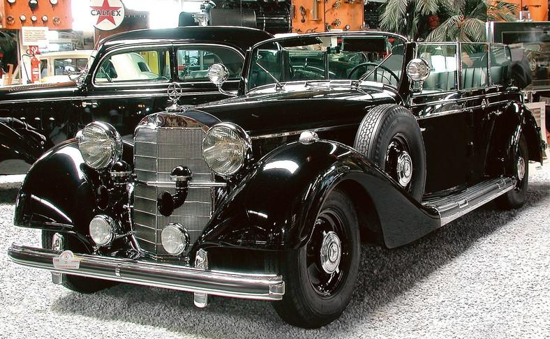 Pancerny kabriolet, który Mercedes stworzył dla Himmlera. Zdjęcie z muzeum w Sinsheim