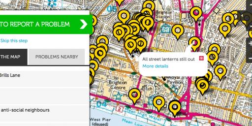Aplikacja FixMyStreet, fot. własne