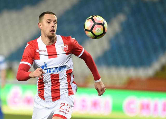 "Milan Rodić, strelac prvog ""prolećnog"" gola Zvezde, za uvodno vođstvo u Novom Pazaru"