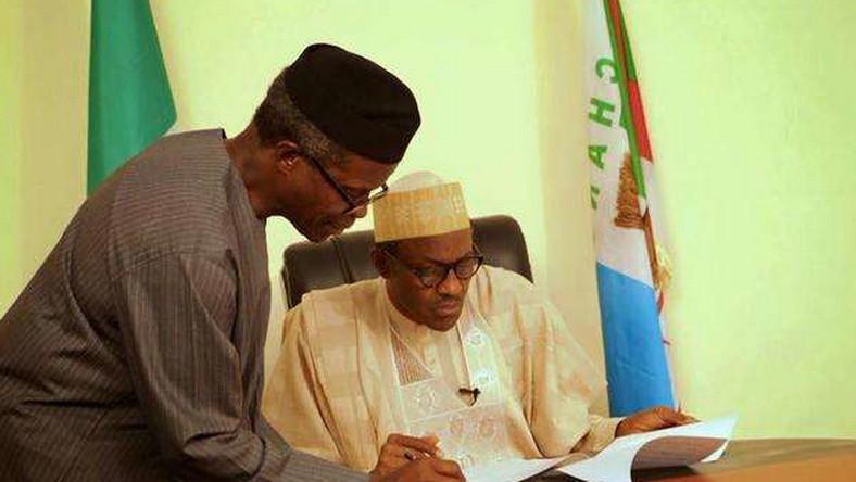 Muhammadu Buhari and Yemi Osinbajo