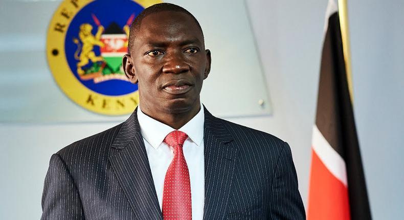 File image of Government Spokesman Col. Cyrus Oguna