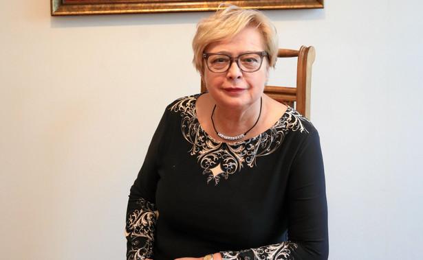 prof. Gersdorf opuściła już budynek Krajowej Rady Sądownictwa, gdzie urzędują również sędziowscy rzecznicy dyscyplinarni.