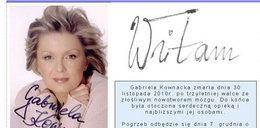 Bliscy śp. Gabrieli Kownackiej prowadzą stronę