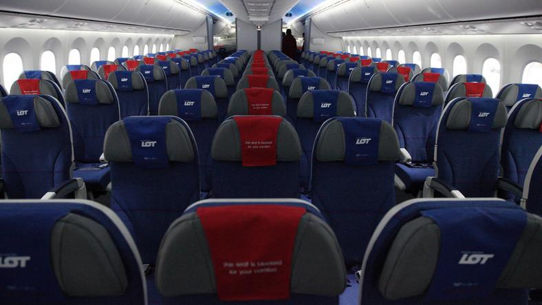 Wnętrze Dreamlinera