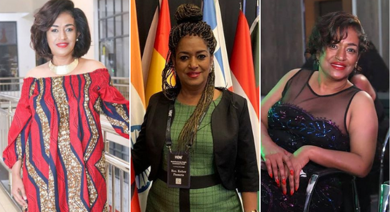 Nairobi Woman Representative Esther Passaris in different hairstyles