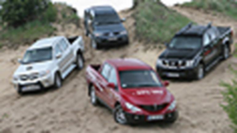 SsangYong Actyon Sports, Toyota Hilux, Mitsubishi L200, Nissan Navara - Który los okaże się szczęśliwy?