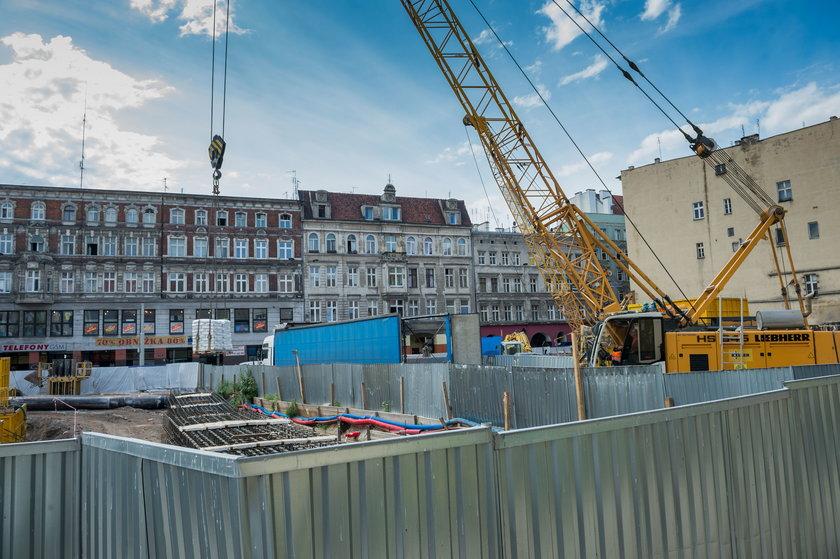 Plac budowy biurowca Times II we Wrocławiu