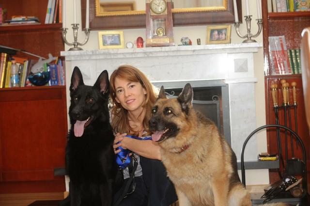 Maja Žeželj sa psima
