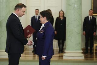 Morawiecki desygnowany na premiera. Duda do Szydło: Ten moment nie jest momentem miłym