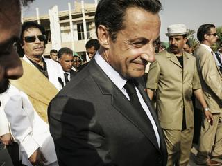 French President Nicolas Sarkozy meet Libyan Leader Muammar Gadhafi During an Official Visit in Trip