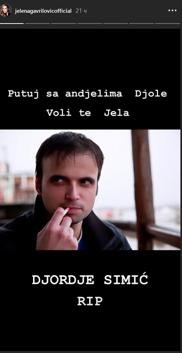 Jelena Gavrilović, Đorđe Simić
