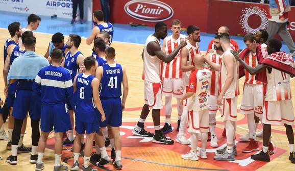 Košarkaši Crvene zvezde i OKK Beograda