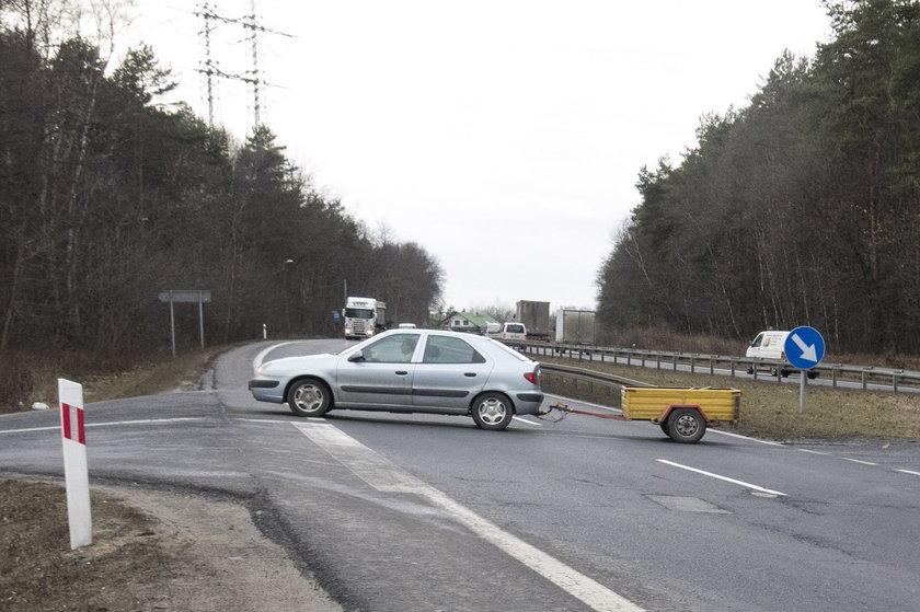 Skrzyżowanie DK 86 z ul. Polną