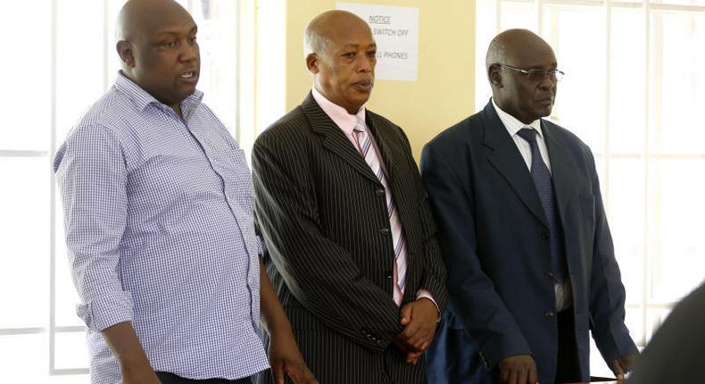 Joshua Waiganjo, Former Rift Valley Provincial Police boss John M'Mbijiwe and the former Anti-Stock Theft Unit Commandant Remi Ngugi