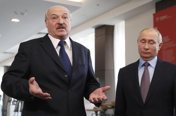 Aleksandar Lukašenko i Vladimir Putin, tokom posete beloruskog predsednika