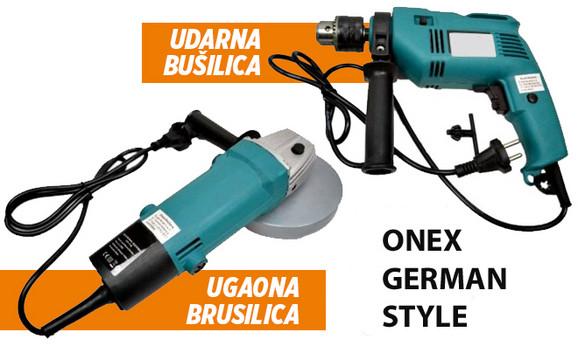 Bušilica i brusilica marke Onex German style