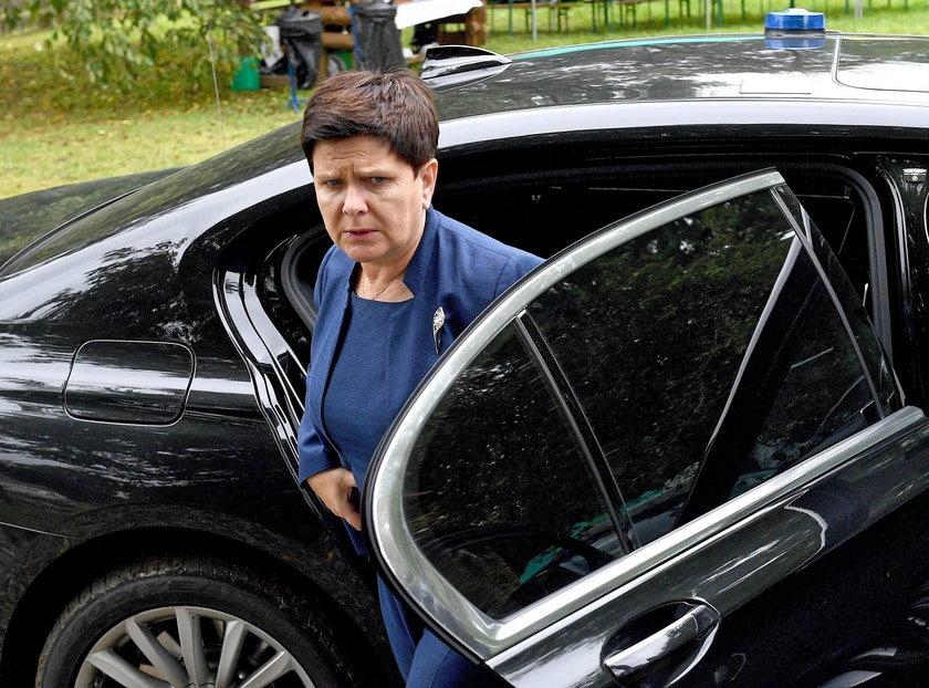 Wypadek byłej premier Beaty Szydlo jadącej w kolumnie rządowej w Imielinie