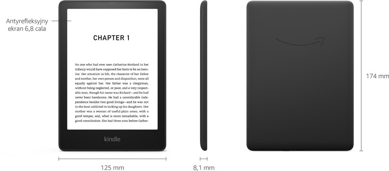 Kindle Paperwhite 5 memiliki layar yang lebih besar dari pendahulunya, yang juga meningkatkan dimensi seluruh perangkat.