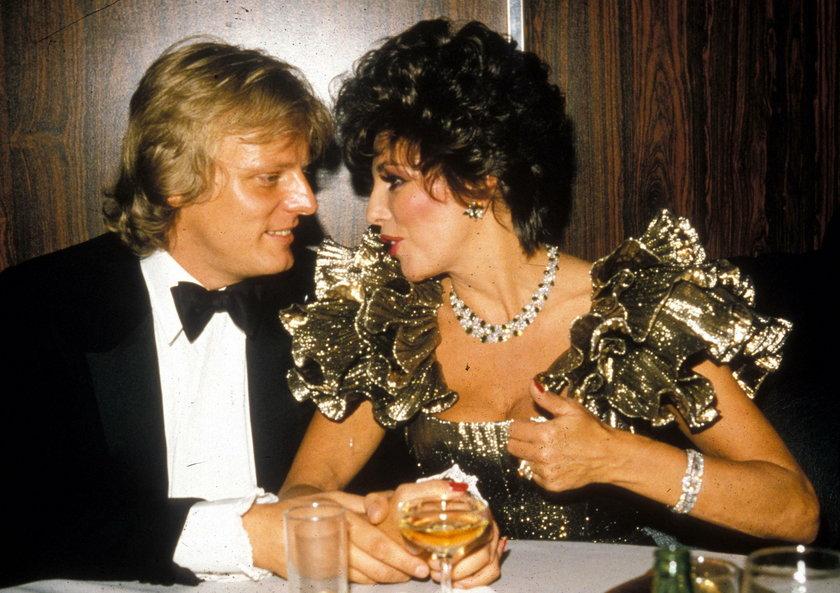 Joan Collins z poprzednim mężem Peterem Holmem