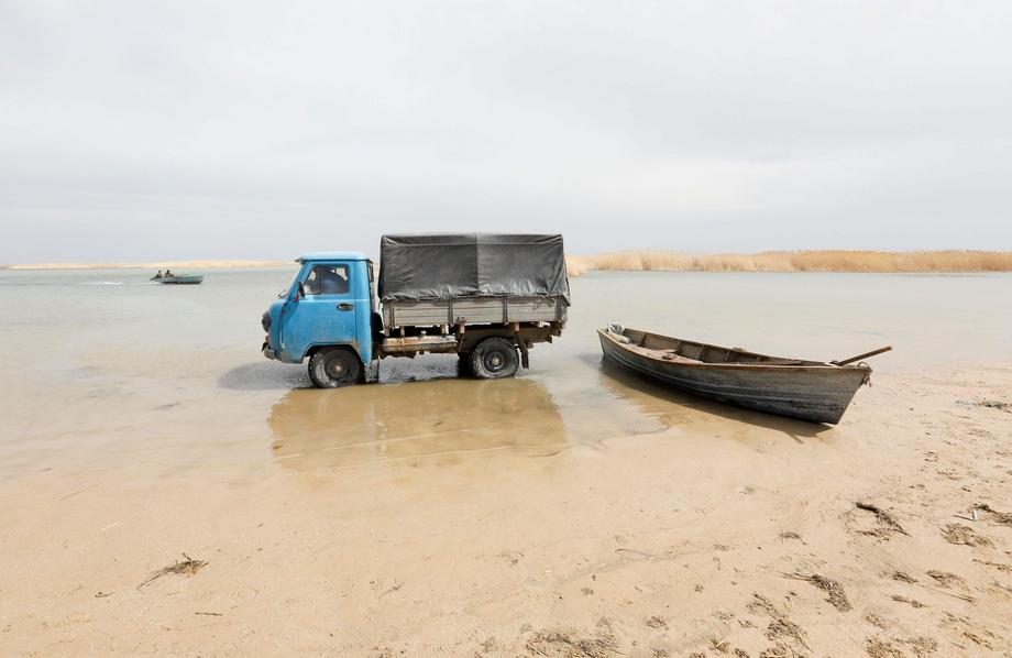 The Wider Image: Aral Sea: big fish is back in small pond